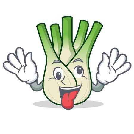 Crazy fennel mascot cartoon style