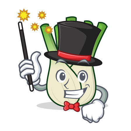 Magician fennel mascot cartoon style