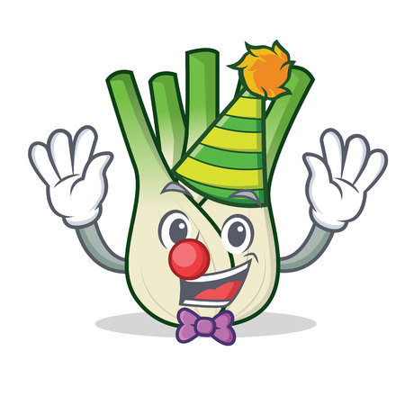 Clown fennel mascot cartoon style vector illustration
