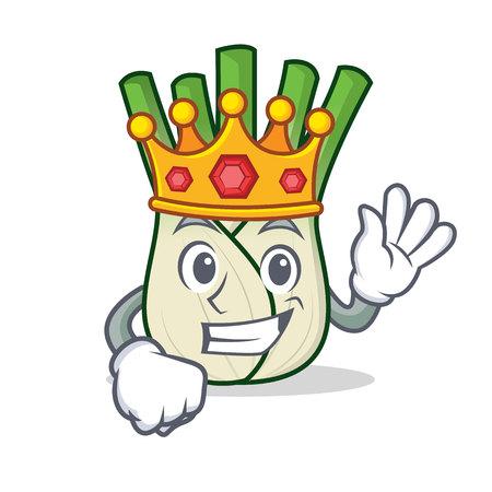 King fennel mascot cartoon style vector illustration