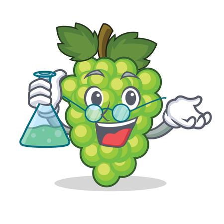 Professor green grapes character cartoon