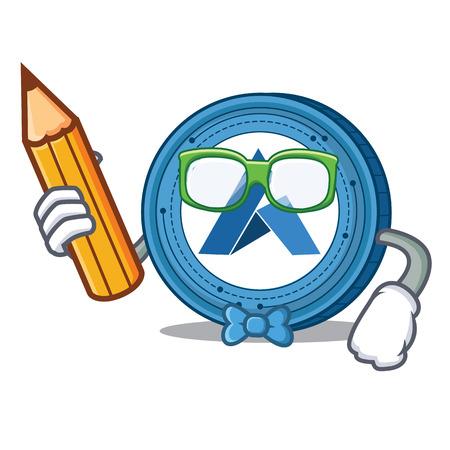 Student Ardor coin character cartoon