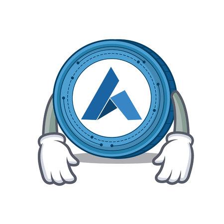 Tired Ardor coin mascot cartoon Ilustrace