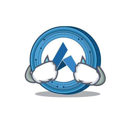 Crying Ardor coin mascot cartoon Illustration