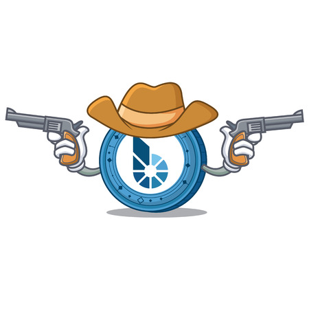 Cowboy BitShares coin character cartoon