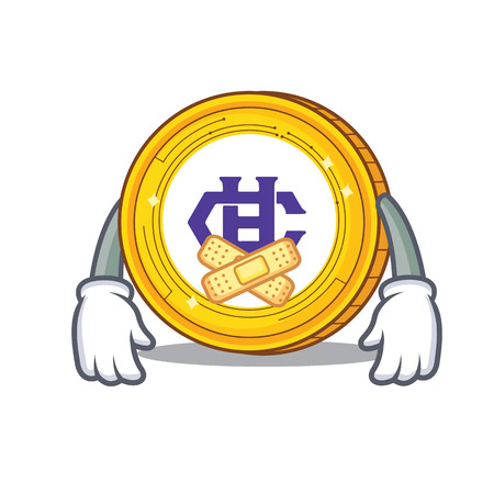 Silent Hshare coin mascot cartoon