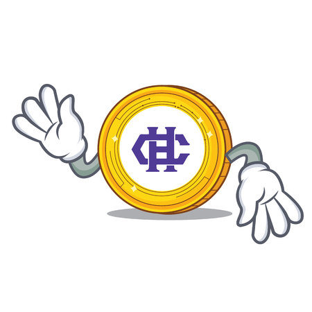 Crazy Hshare coin mascot cartoon