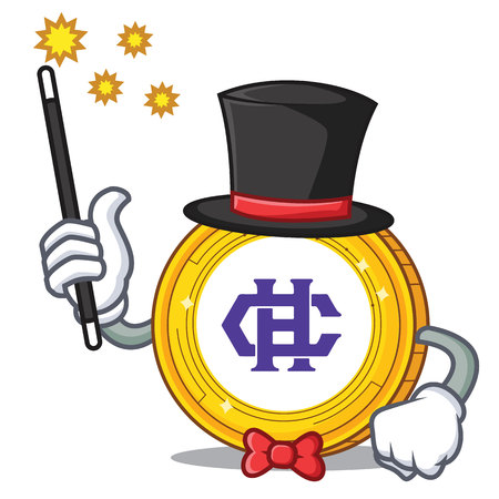 Magician Hshare coin mascot cartoon