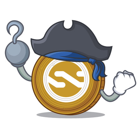 Pirate Nxt coin character cartoon