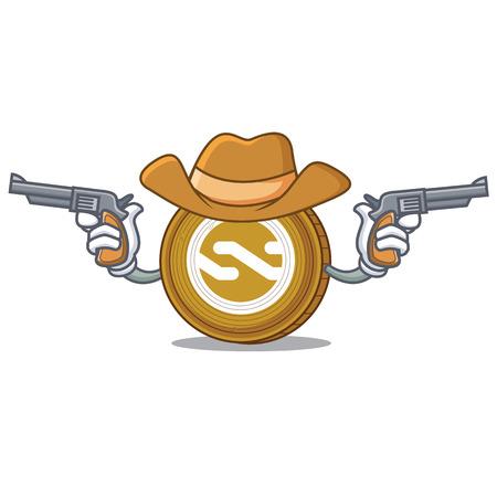 Cowboy Nxt coin character cartoon