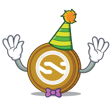 Clown Nxt coin mascot cartoon Illustration