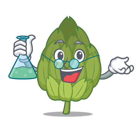 Professor artichoke character cartoon style