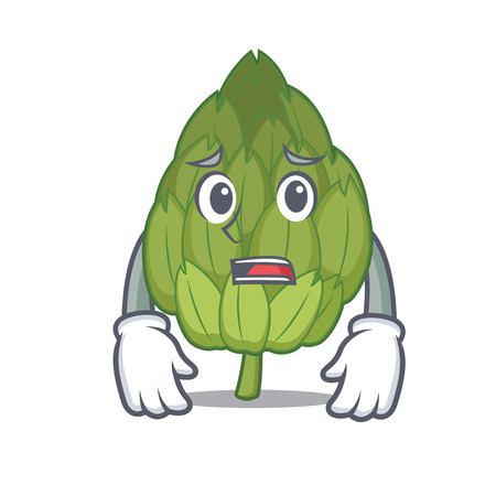 Afraid artichoke mascot cartoon style vector illustration