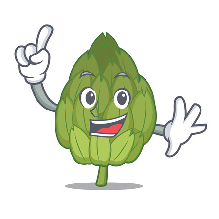Finger artichoke mascot cartoon style vector illustration