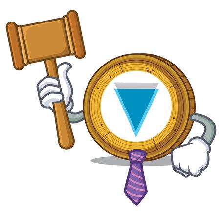 Judge Verge coin mascot cartoon