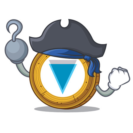 Pirate Verge coin character cartoon