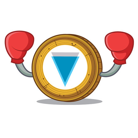 Boxing Verge coin character cartoon