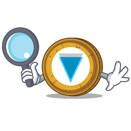 Detective Verge coin character cartoon