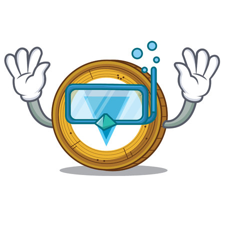Diving Verge coin character cartoon