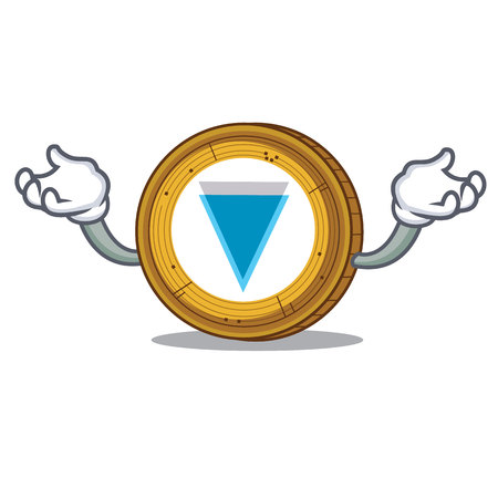 Hand up Verge coin character cartoon