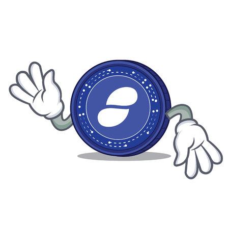 Crazy Status coin mascot cartoon vector illustration
