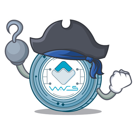 Pirate Waves coin character cartoon