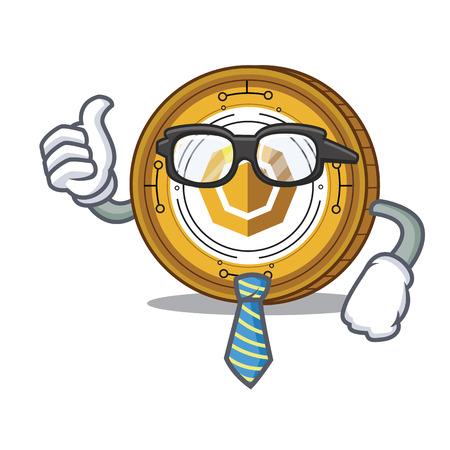 Businessman komodo coin character cartoon vector illustration Illustration