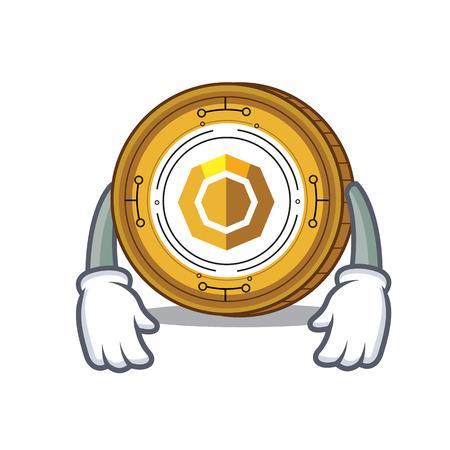 Tired komodo coin mascot cartoon vector illustration
