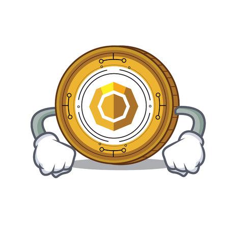 Angry komodo coin mascot cartoon vector illustration Illustration