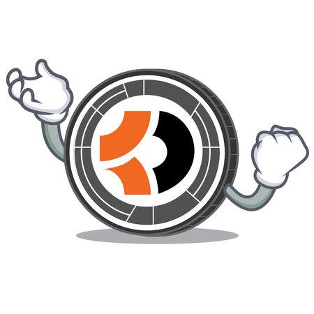Successful Bitcoin Dark character cartoon
