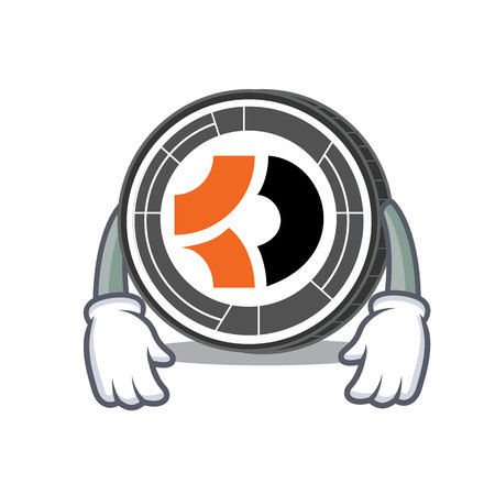Tired Bitcoin Dark mascot cartoon vector illustration