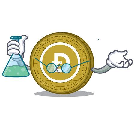 Professor Dogecoin character cartoon style vector illustration