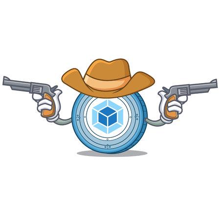 Cowboy webpack coin character cartoon