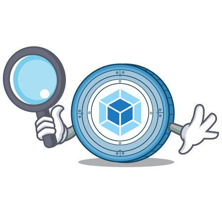 Detective webpack personaggio dei cartoni animati di monete