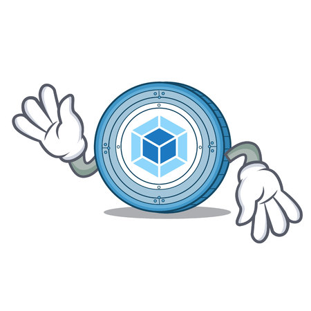 Crazy webpack coin mascot cartoon vector illustration