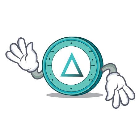 Crazy Salt coin mascot cartoon Illustration