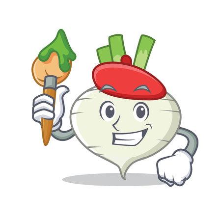 Artist turnip character cartoon style