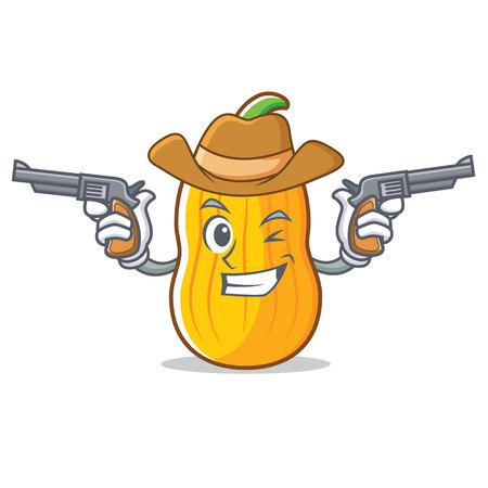 Cowboy Squash character cartoon