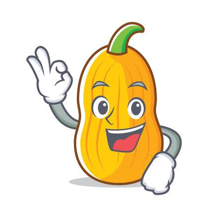 Okay butternut squash character cartoon