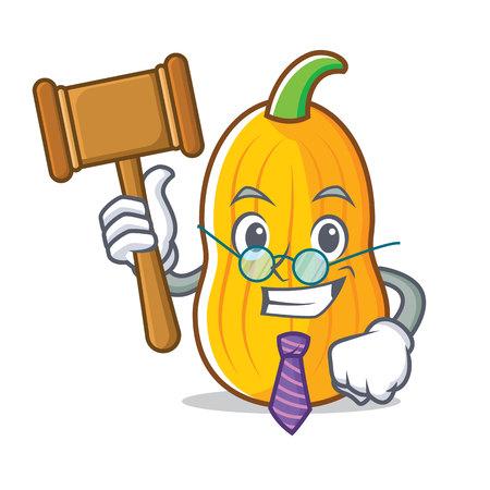 Judge butternut squash mascot cartoon