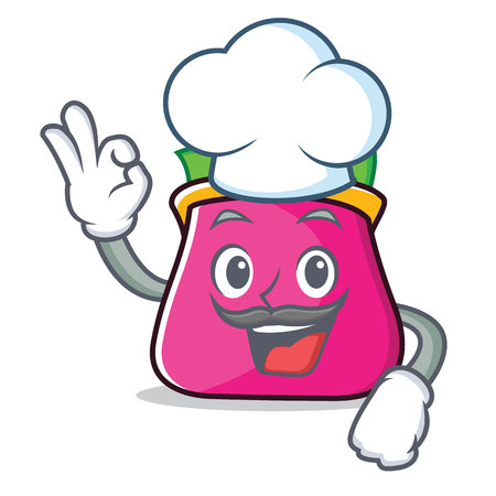 Chef purse character cartoon style