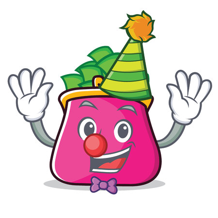 Clown purse character cartoon style Illustration