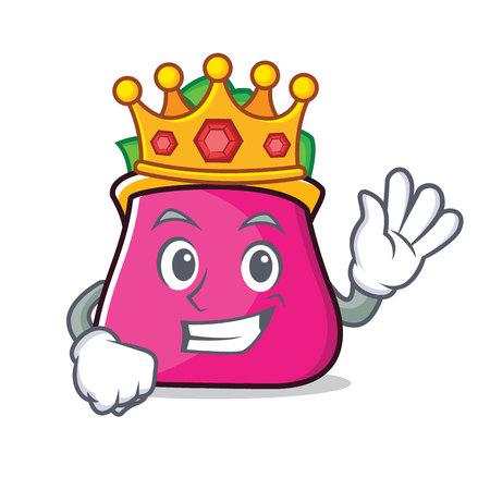King purse character cartoon style