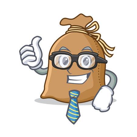 Businessman sack character cartoon style vector illustration Illustration