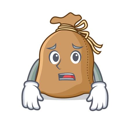 Afraid sack mascot cartoon style vector illustration Illustration