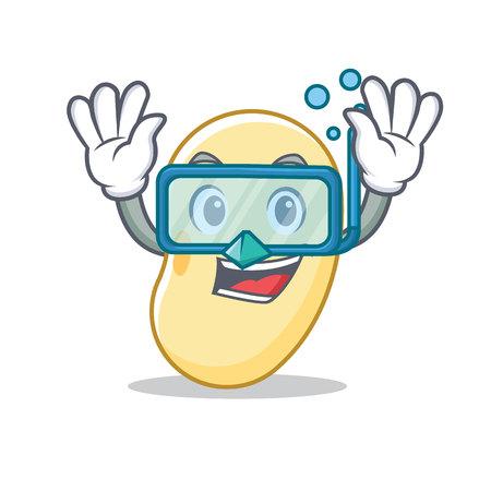 plongée personnage de soja personnage de dessin animé illustration vectorielle