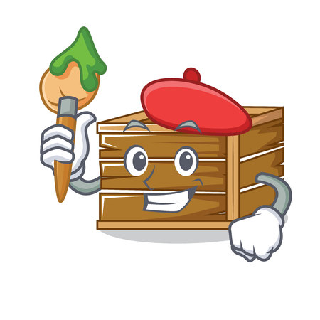 Artist crate character cartoon style