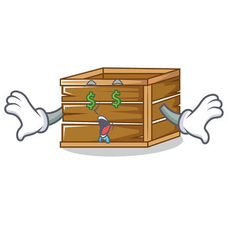 Money eyed crate mascot cartoon style vector illustration Stok Fotoğraf - 95125159