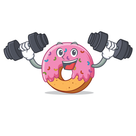Fitness Fitness Donut character cartoon style