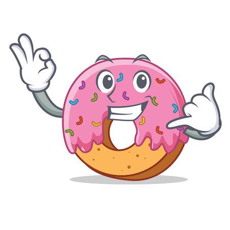 Call me Donut mascot cartoon style